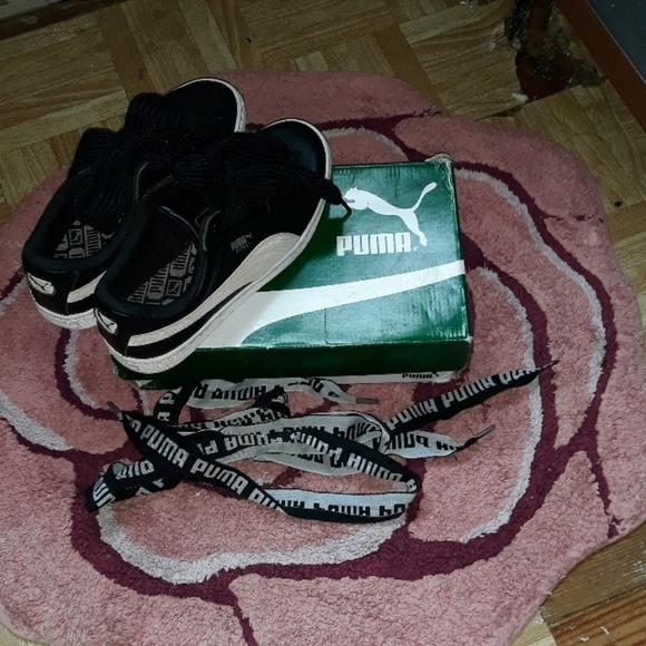 Puma Shoes | Puma Blk With Tan Suede